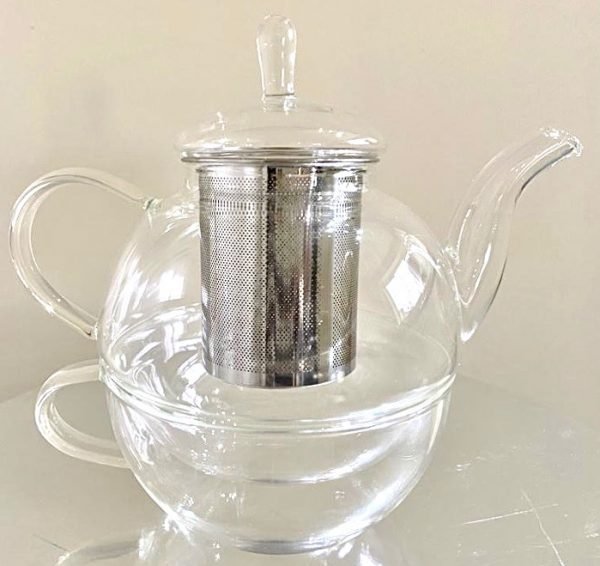 Infusion teapot and cup